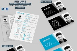 Resume with Business Card