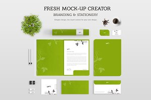 Fresh Branding & Stationery Mock-up