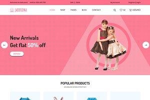 Jadusona - Baby Shop eCommerce HTML