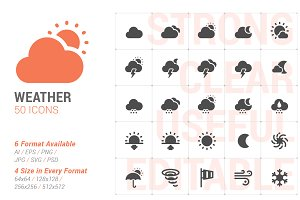 Weather & Forecast Filled Icon