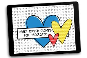 Heart Brush Stamps for Procreate