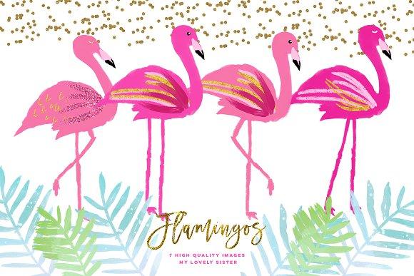flamingo clip art.html