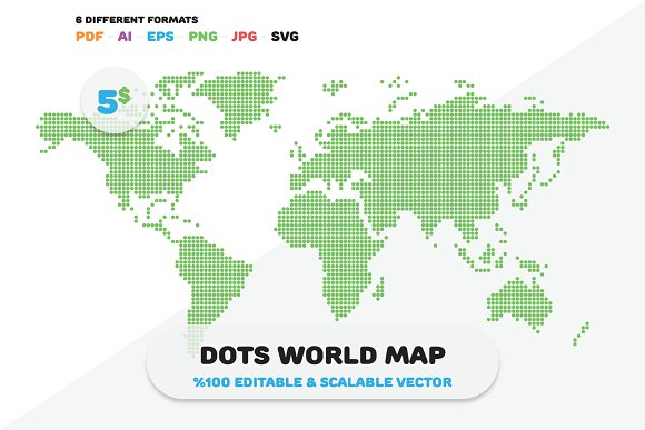 Dots world map illustrations creative market gumiabroncs Image collections