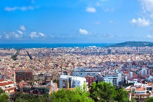Panorama of Barcelona, Spain