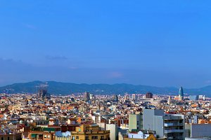 Barcelona at summer, Spain