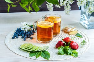 Tea background . Tea in transparent