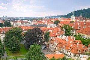 Mala Strana in Prague, panorama