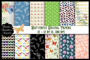 Butterfly Patterns Digital Papers