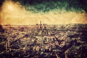 Paris: capital of France. Vintage