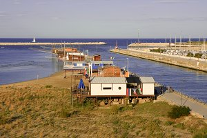 Fishinghouse on Pescara harbour