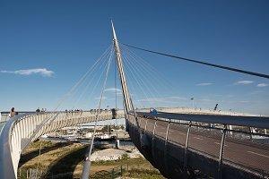 Bridge of sea in Pescara