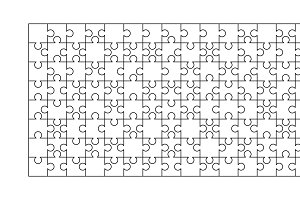 50 white puzzles pieces template illustrations creative market