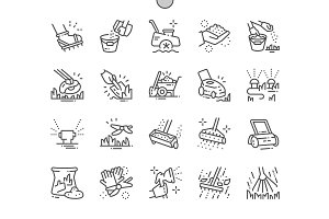 Lawn care Line Icons