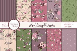 Wedding floral papers