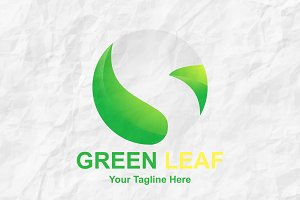 Green Leaf Logo Premium Design