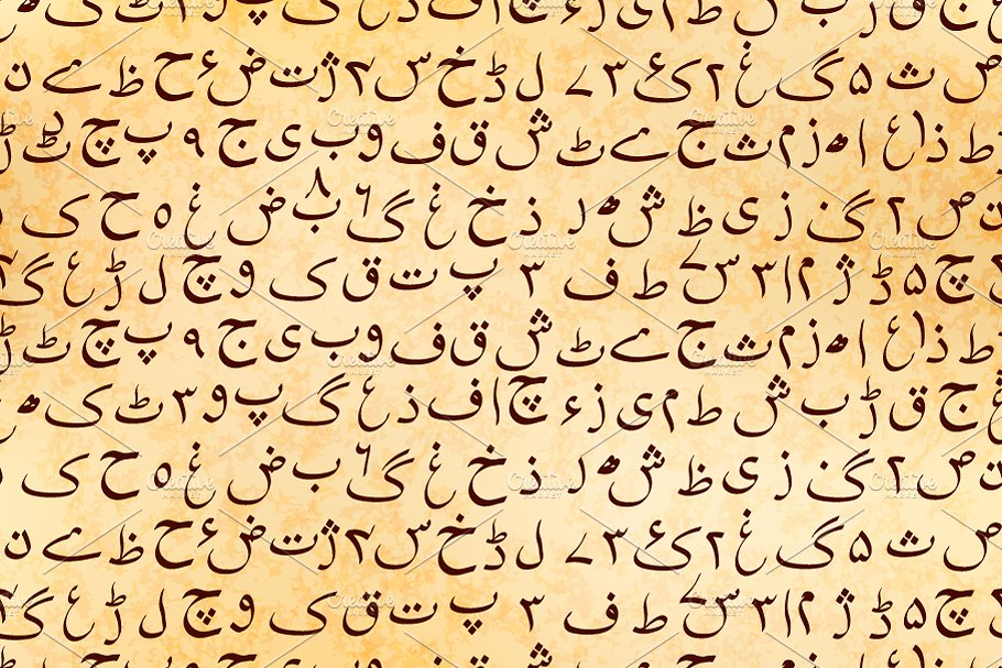 Urdu manuscript on ancient parchment