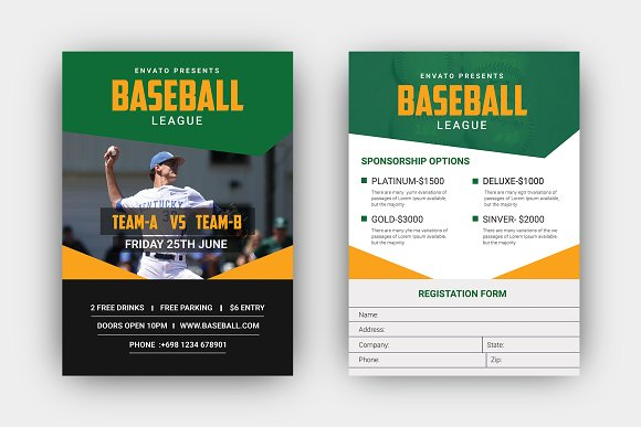 baseball tournament flyer flyer templates creative market