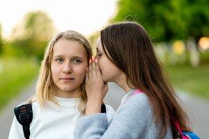 Girls schoolgirls teenagers, in