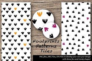 Fun Footprints Pattern Designs