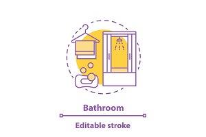Bathroom concept icon
