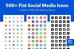 500+ Social Media Icons