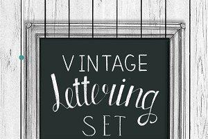 Vintage lettering set