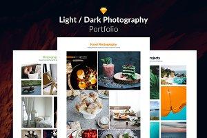 10 Light/Dark Portfolio Web Template