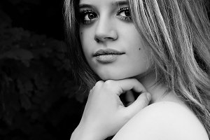 Black and white Portrait of model th