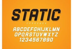 Static vector decorative bold italic