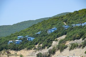 Houses on the mountain for tourists