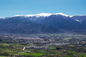 Sulmona in the Peligna Valley at the
