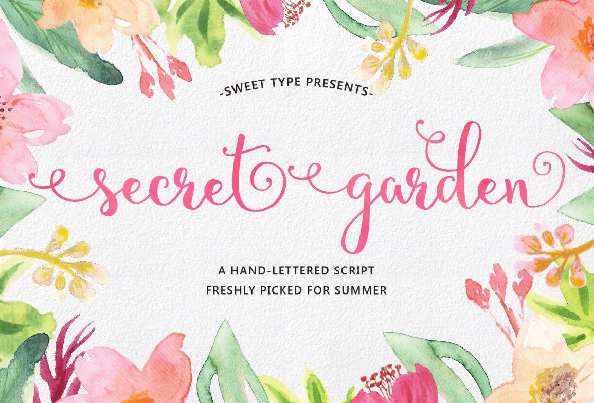 Secret Garden Script Script Fonts Creative Market
