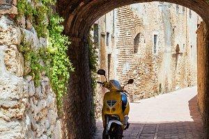 Empty street in Italian old town