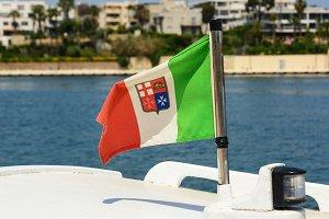 Italian nautical flag with the trico