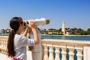 young tourist observes the Brindisi