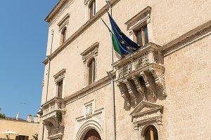 Facade of the Palazzo Nervegna di Br