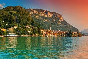 Fantastic cityscape, lake Como