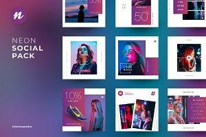 Neon - Social Pack