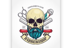 Color barbershop logo