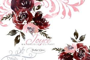 Burgundy Florals, Wreaths