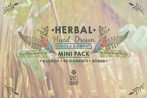 Herbal Mini Pack, Logos & Elements