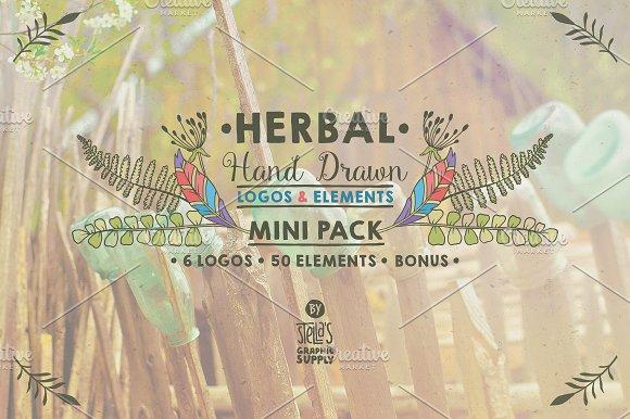 Herbal Mini Pack, Logos & Elements in Logo Templates