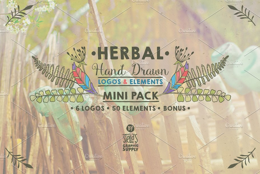 Herbal Mini Pack, Logos & Elements in Logo Templates - product preview 8