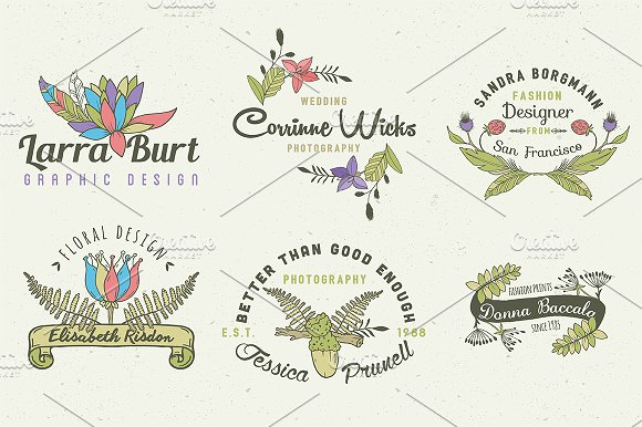 Herbal Mini Pack, Logos & Elements in Logo Templates - product preview 1