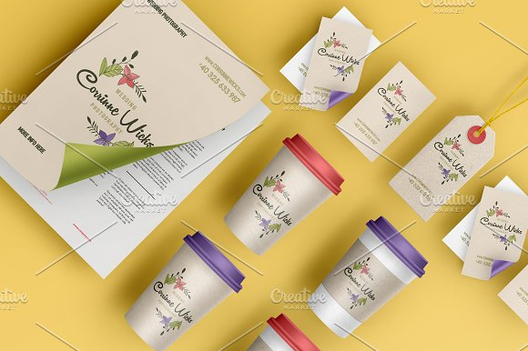 Herbal Mini Pack, Logos & Elements in Logo Templates - product preview 3