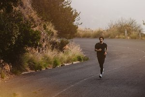 Runner practising for a marathon