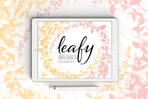 Procreate Brushes - Leafy