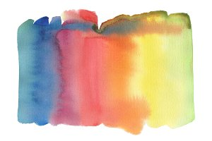 Abstract watercolor blot painting
