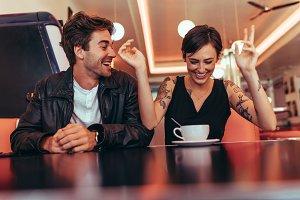 Couple enjoying their time