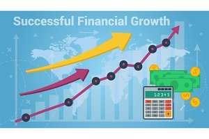 Charts showing successful growth of